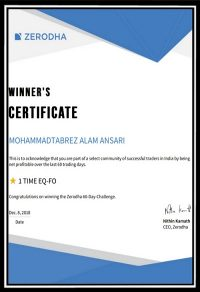 zerodha certificate 2018