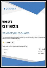 zerodha certificate 2019